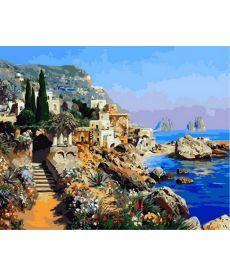 Картина по номерам Прибрежные скалы 40 х 50 см (MR-Q2144)