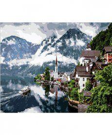 Картина по номерам Швейцарские Альпы 40 х 50 см (MR-Q352)
