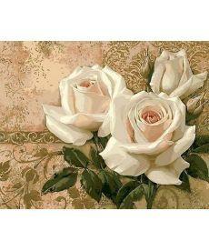 Картина по номерам Кремовые розы 40 х 50 см (MR-Q416)
