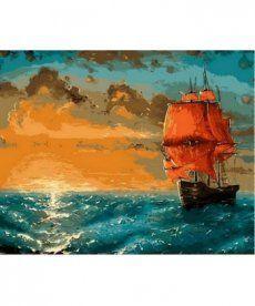 Картина по номерам Алые паруса 40 х 50 см (MR-Q551)