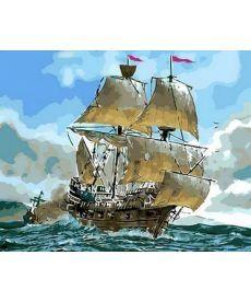 Картина по номерам Сражение кораблей 40 х 50 см (MR-Q553)