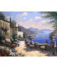 Картина по номерам Итальянская набережная 40 х 50 см (MR-Q613)