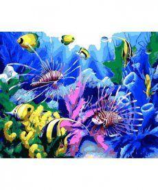 Картина по номерам Тропические рыбки 40 х 50 см (MR-Q616)