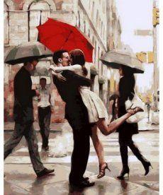 Картина по номерам Поцелуй при встрече 40 х 50 см (MR-Q682)