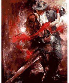 Картина по номерам Огненный танец 40 х 50 см (MR-Q685)