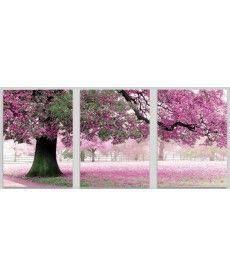 Картина по номерам Триптих. Весенний цвет Триптих 50 х 150 см (MS14028)