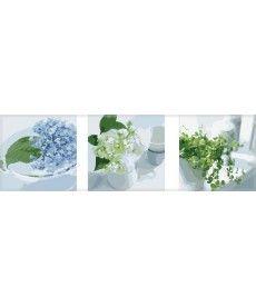 Картина по номерам Триптих. Весенний натюрморт Триптих 50 х 150 см (MS14065)