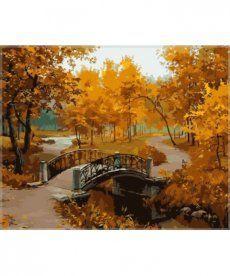 Картина по номерам Осенний парк (мост) 40 х 50 см (MS334)