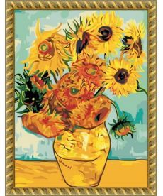 Картина по номерам Подсолнухи 40 х 50 см (MS427)
