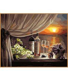Картина по номерам Вино на закате (в раме) 40 х 50 см (NB596R)