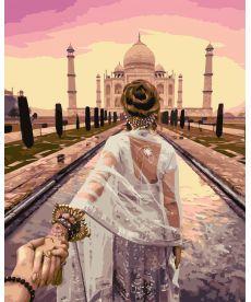 Картина по номерам Следуй за мной. Агра, Индия 40 х 50 см (NB716)
