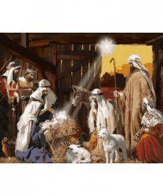 Картина по номерам Рождение Христа 40 х 50 см (NB790)