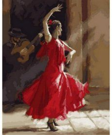 Картина по номерам Огненный фламенко 40 х 50 см (NB793)