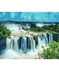 Картина по номерам Водопады Игуасу. Бразилия 40 х 50 см (NB822)