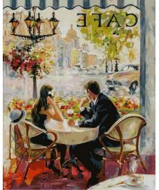 Картина по номерам Французское кафе 40 х 50 см (NB873)