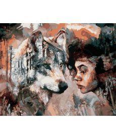 Картина по номерам Душа волка 40 х 50 см (NB975)