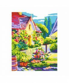 Картина по номерам Летний дворик 35 х 45 см (RS-N0001335)