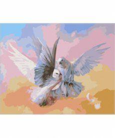 Картина по номерам Влюбленные голубки 40 х 50 см (SW007)