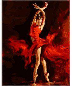 Картина по номерам Танец огня 40 х 50 см (SW009)