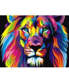 Картина по номерам Радужный лев 30 х 40 см (VK001)