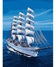 Картина по номерам Белоснежный парусник 30 х 40 см (VK029)