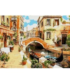 Картина по номерам Венецианский мостик 30 х 40 см (VK030)