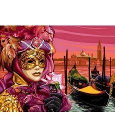 Картина по номерам Венецианская маска 30 х 40 см (VK042)
