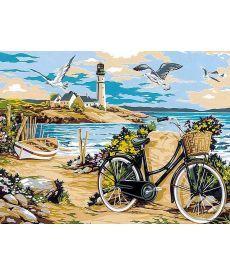 Картина по номерам Прогулка по пляжу 30 х 40 см (VK052)