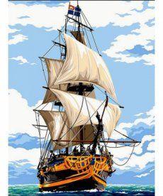 Картина по номерам Белоснежные паруса 30 х 40 см (VK055)