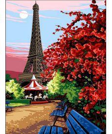 Картина по номерам Цветущий Париж 30 х 40 см (VK067)