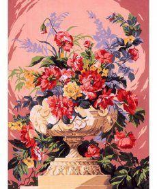 Картина по номерам Букет в нежно-розовых тонах 30 х 40 см (VK076)