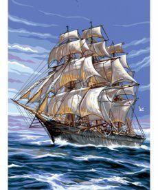 Картина по номерам На всех парусах 30 х 40 см (VK138)