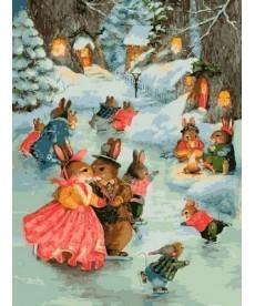 Картина по номерам Рождественская прогулка 30 х 40 см (VK141)