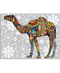 Картина по номерам Цветочный верблюд 30 х 40 см (VK159)