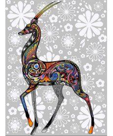 Картина по номерам Цветочная антилопа 30 х 40 см (VK161)