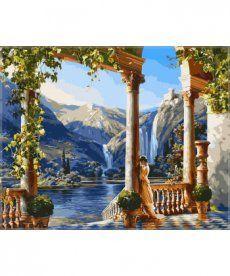 Картина по номерам Девушка у водопада 40 х 50 см (VP011)