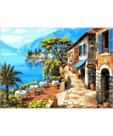 Картина по номерам Кафе у моря 40 х 50 см (VP016)