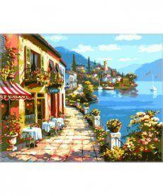 Картина по номерам Уютное кафе 40 х 50 см (VP017)