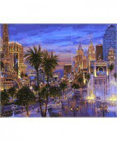 Картина по номерам Вечер в Вегасе 40 х 50 см (VP036)