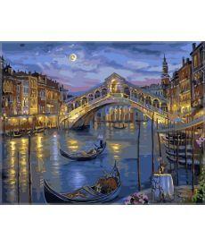Картина по номерам Большой канал Венеции 40 х 50 см (VP041)