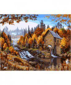 Картина по номерам Дом в лесу 40 х 50 см (VP143)