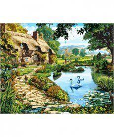 Картина по номерам Коттедж у озера 40 х 50 см (VP144)