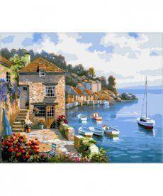 Картина по номерам Дом на берегу океана 40 х 50 см (VP211)