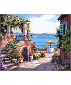 Картина по номерам Тихий дворик 40 х 50 см (VP214)