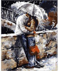 Картина по номерам Любовь под дождем 40 х 50 см (VP314)