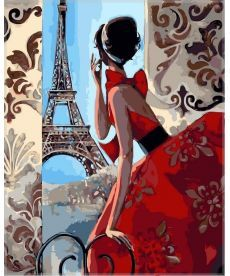 Картина по номерам Утро в Париже 40 х 50 см (VP341)