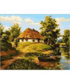 Картина по номерам Домик возле пруда 40 х 50 см (VP356)
