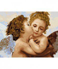Картина по номерам Поцелуй ангела 40 х 50 см (VP430)