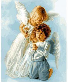 Картина по номерам Ангельские дети 40 х 50 см (VP434)