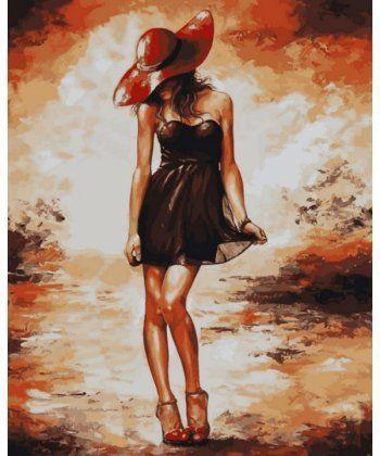 Картина по номерам Черное платьице 40 х 50 см (VP514)